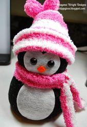 Socken Schneemänner & Tiere #schneemanner #socke…