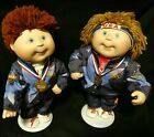 1996 Cabbage Patch Kids Olympic Porcelain Dolls Cpk By Danbury Mint With Stand Ebay Cabbage Patch Kids Patch Kids Kids Olympics