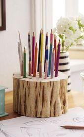 Holz-Stiftehalter selber bauen | selbst.de – DIY und Selbermachen