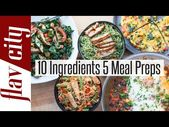 Here are 5 easy meal prep recipes using the same 1…