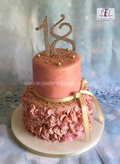 Pastel de 18 años de oro rosa   – BIRTHDAY CAKES x SWEETS