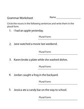 Year 4 English Worksheets Free Printable for Students