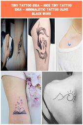 awesome Tiny Tattoo Idea – nice Tiny Tattoo Idea – minimalistic tattoo olive bla…