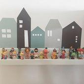 Wandfolie Lille Hus für IKEA Wandregal – Farbe MintGrün 55cm