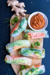 Schnelle Summer Rolls mit Erdnusssauce aus vier Zutaten