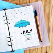 25 + Juli Begrüßungsseiten für Ihr Bullet Journ…