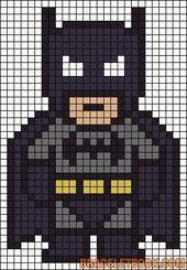 Ecke zum Eckenraster. Batman Pearler Perle / Stric…