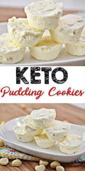 Keto-Kekse! ERSTAUNLICHE ketogene Diätkekse – Einfach weißer Schokoladenpudding …