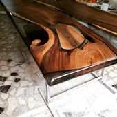 Walnut Wood Epoxy Resin Table Quality Is Never A C…