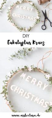 Eucalyptus wreath with salt dough decoration   – ars textura DIY Ideen