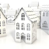 Dekorationsgegenstände – LED Haus Teelichter Dekoration Häuschen 20 Dorf – ein Designer …   – Creatives