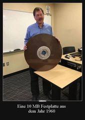 Eine 10 MB Festplatte aus dem Jahr 1960.. | Lustig…