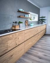 The kitchen made of waxed concrete – a timeless trend that turns the kitchen into an industrial …