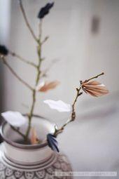 Nature & handmade touches around the house / Herbstblätter falten