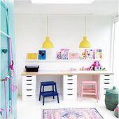 24 Möglichkeiten Zu Dekorieren Und Organisieren Ein Kinder Studie Nook  – Dekoration