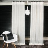 Fancy – White Mesh mit Gold Glitter Net Curtain   – Ideas for the House