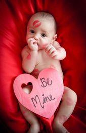 Baby ersten Valentinstag Handwerk Foto Ideen 37 besten Ideen  – Baby's first holidays