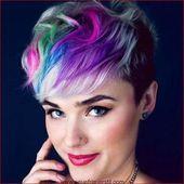 2018 Pastell-Haarfarben für Kurzes Haar : Rosa, blau, gelb, rot etc … – #frisuren #hair #hairstyles #style – #frisuren –