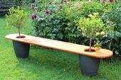 Gartenbank mit Bäumchen Bauanleitung zum selber bauen – Gestaltung