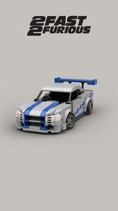 Lego Nissan Skyline GTR GTR R34 2FAST2FURIOUS Held Auto benutzerdefinierte Modell …   – Lego Ideen