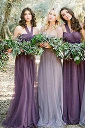 Convertiable Mismatched Tulle Long Elegant Cheap Charming Bridesmaid Dresses JS670