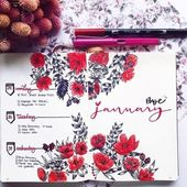 Top 10 Red Bullet Journal Spreads from this week! …