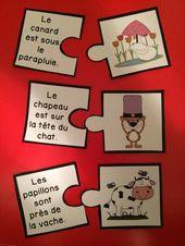 Je vous présente aujourd'hui deux activités amusantes sur les préposition…