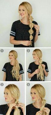 Schauen Sie sich unsere Sammlung von einfachen Frisuren Schritt für Schritt DIY. Sie werden H...