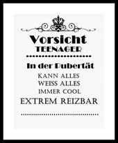 """Kunstdruck Bild Spruch """"Teenager"""" von MilaLu auf …"""