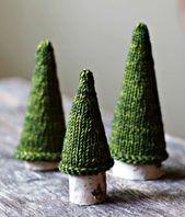 Strickmuster – Jack Pine Tree – stricken Weihnachtsbaum – Urlaub Dekor – gestrickter Baum – s…