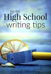 Prime 10 Excessive Faculty Writing Suggestions