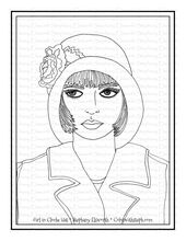 Girl in Cloche Hat Free Printable Coloring Page – Color with Steph