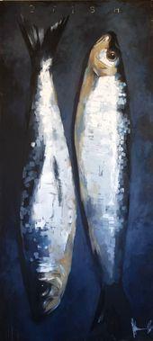 Igor Shulman – 2 fish., Painting, Oil on Canvas
