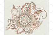 Flower Pattern Bright Abstract wallpaper vintage by YashkovskiyMD on Creative Ma...