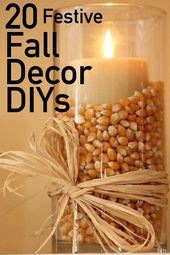 20 Festive DIY Fall Decor Ideas | The Unlikely Hostess  – Home Projects – #Decor…