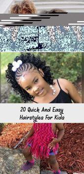 20 schnelle und einfache Frisuren für Kinder – #Einfache #Frisuren #Kinder #Schnelle #Zöpfe ….