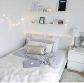 LED-Lichter im weißen Schlafzimmer #im #LEDLichter #Schlafzimmer # weißen