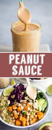 EASY Peanut Sauce Recipe- this is SO easy to make and can be enjoyed on buddha b… – Vegan