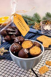 Spekulatius Bälle   – Rezepte: Kekse, Plätzchen, Cookies & Pralinen