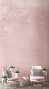 Photo of Mural wallpaper with pink grunge watercolor Murals Wallpaper