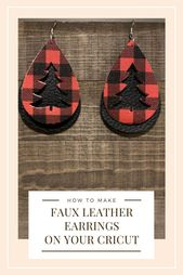 These diy faux leather earrings are easy to make on a Cricut.  You can cut these…
