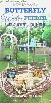 Remark faire un approvisionnement en eau papillon – Planification du jardin – #…