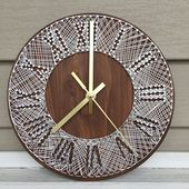 Items similar to 9″ String Art Wall Clock | Home Decor | Wedding Gift | Anniversary Gift | Birthday Gift | All Occasion on Etsy