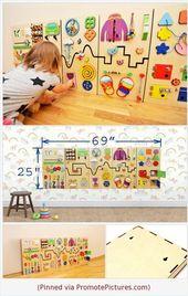 Tableau d'activités avec engrenages  –  baby and kids activities
