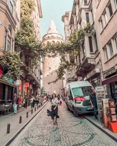 Galata Tower  @traveling_freckles In front of this medieval stone tower 😉. …