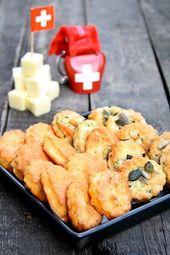 Dinkelkäseplätzchen, ein selbst gemachtes gesundes Snack-Food   – Kekse