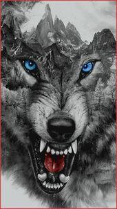 inspirierende bilder eine tolle idee für einen einen wolf tattoo hier ist ein wütender und zähnefletschender wolf und berge