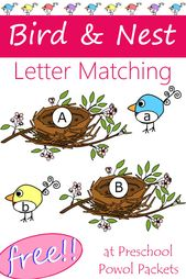 Birds & Nest Letter Matching {FREE} Printable