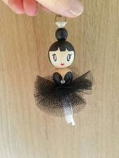 Black tulle ballerina bag jewelry/several colors