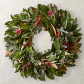 Seeds and Berries Magnolia Wreath